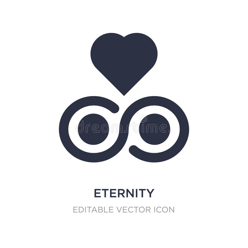 eternity icon on white background. Simple element illustration from Signs concept royalty free illustration