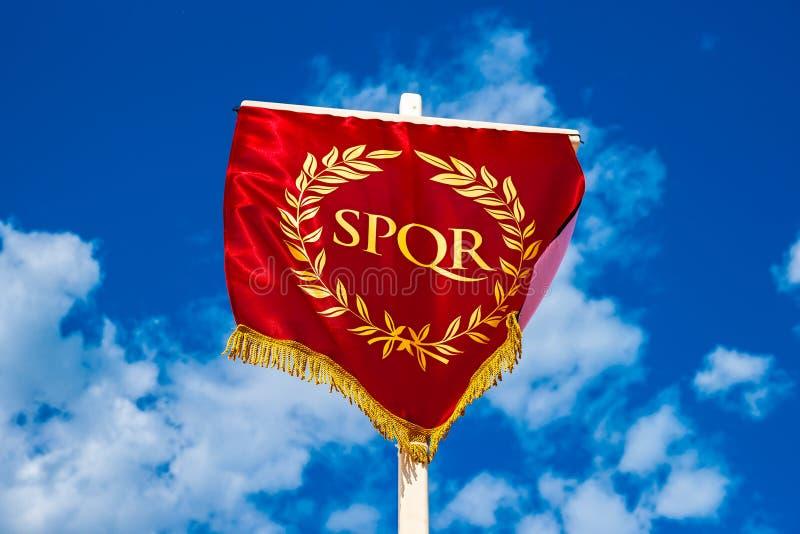 eternity Vexillum romano de SPQR fotografia de stock royalty free