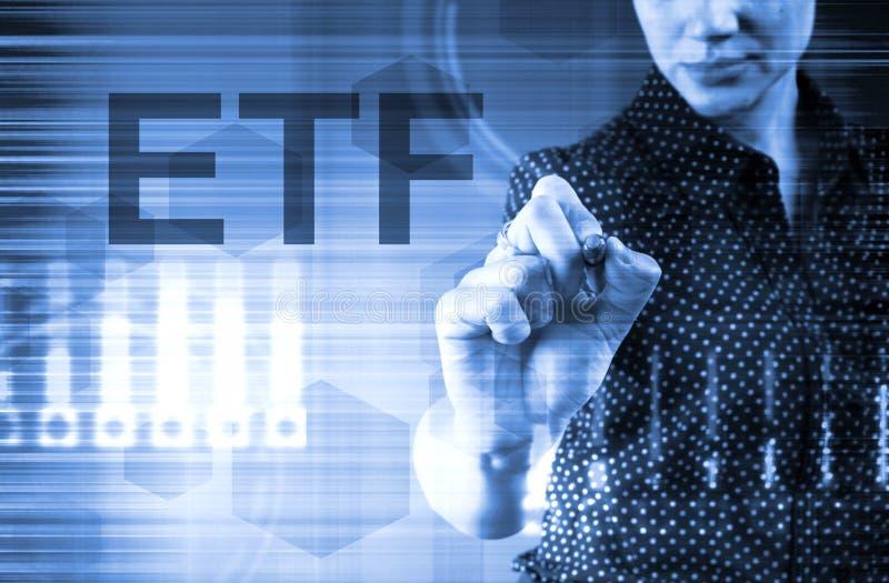 ETF - Διαπραγματεύσιμο ταμείο ICO IPO Χρηματοοικονομική τεχνολογία στοκ φωτογραφία με δικαίωμα ελεύθερης χρήσης