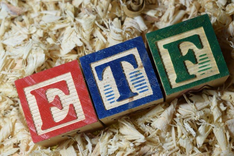ETF immagini stock