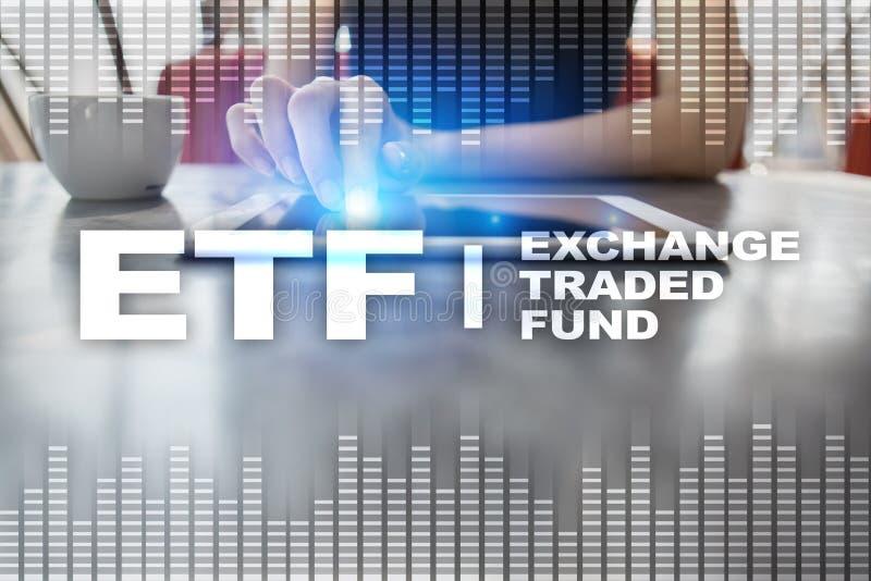 ETF Austausch gehandelter Fonds Geschäfts-, intenet- und Technologiekonzept vektor abbildung