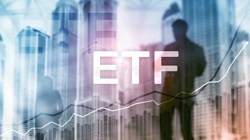 ETF - Exchange traded fund financial and trading tool. Business and investment concept.  royalty free stock photography