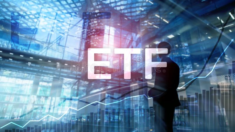 ETF - Exchange traded fund financial and trading tool. Business and investment concept. ETF - Exchange traded fund financial and trading tool. Business and royalty free stock photography