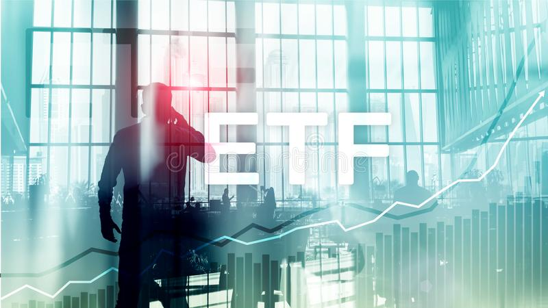 ETF - Exchange traded fund financial and trading tool. Business and investment concept vector illustration