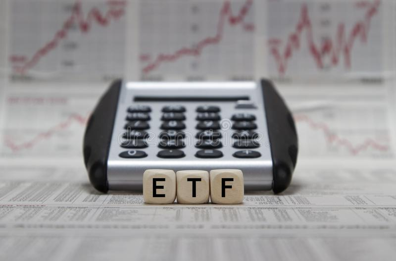 ETF Exchange Traded Funds fotografia stock libera da diritti