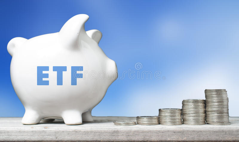 ETF investment concept. Exchanged Trade Fund investment concept royalty free stock photos