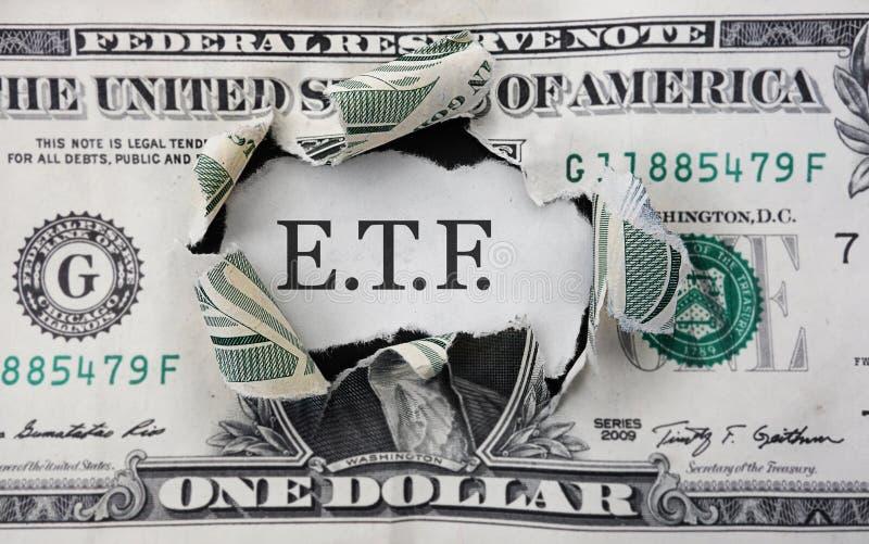 ETF inwestyci pieniądze obraz stock