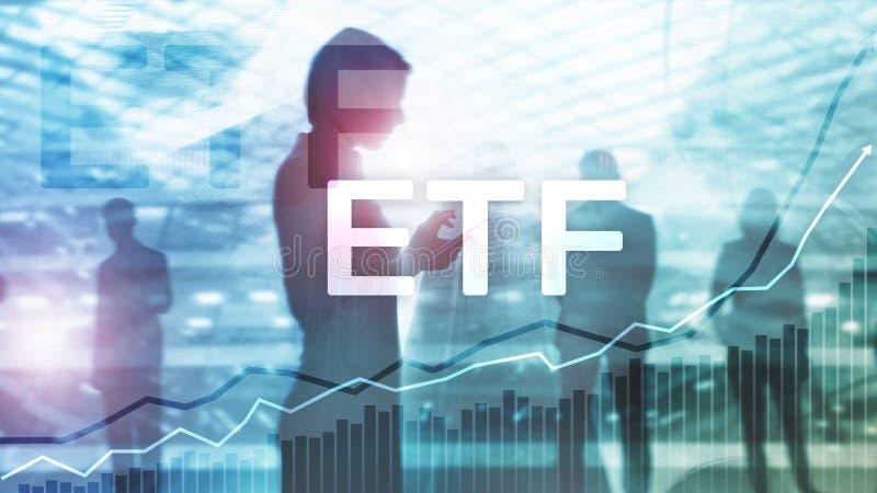 ETF - Utbyte finansiell handlad fond och handelhj?lpmedel Aff?rs- och investeringbegrepp royaltyfria foton