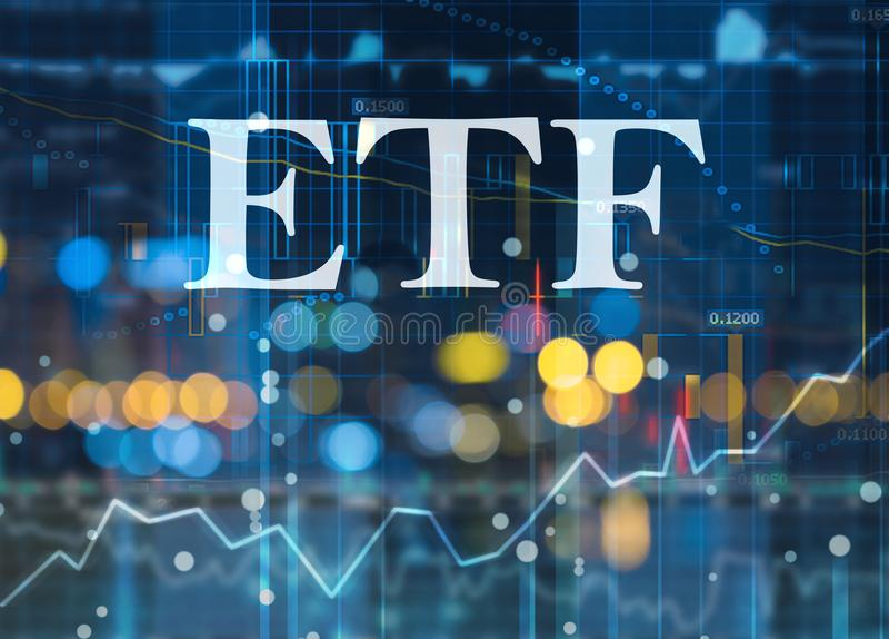 Etf, wekslowi handlujący fundusze fotografia stock