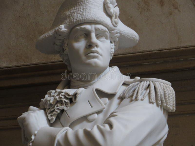 Ethan亚伦雕象U的 S 圆形建筑的国会大厦 免版税库存照片