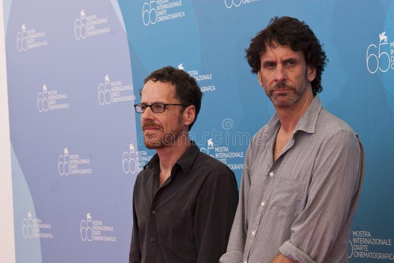 Ethan en Joel Coen stock foto