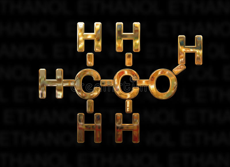 Ethanol Molecule Concept Stock Illustration