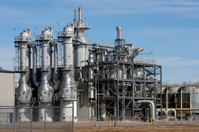 Ethanol Plant royalty free stock photography
