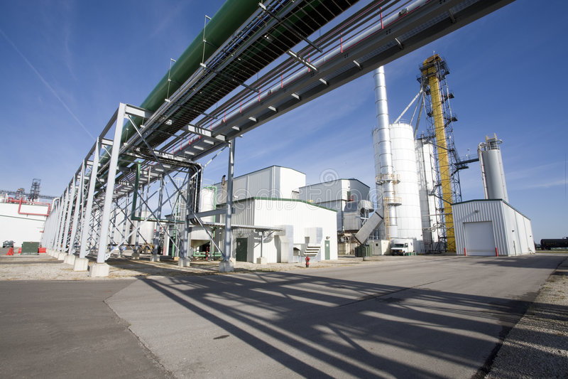 Ethanol Plant royalty free stock photography