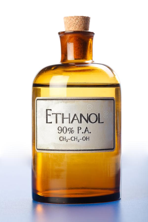 Free Ethanol, Pure Ethyl Alcohol In Bottle Royalty Free Stock Photography - 20662457