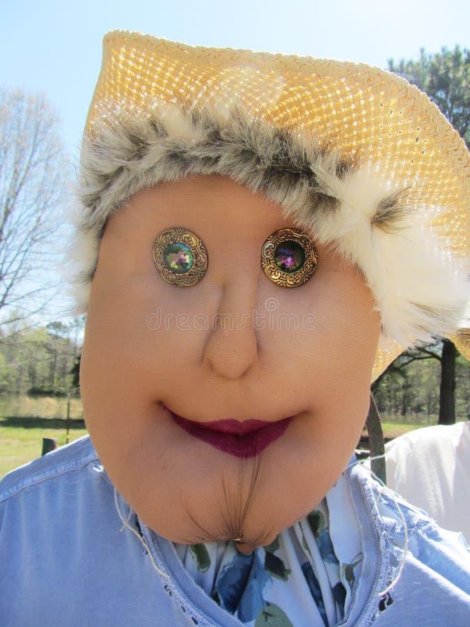 Ethel dama ogródu strach na wróble zdjęcia royalty free