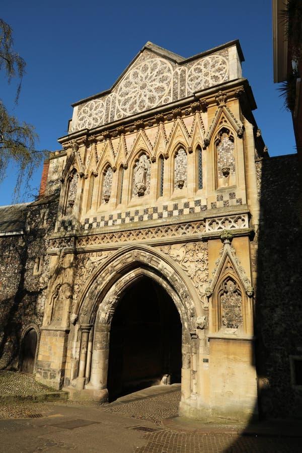 Ethelbert brama przy Norwich katedrą fotografia royalty free