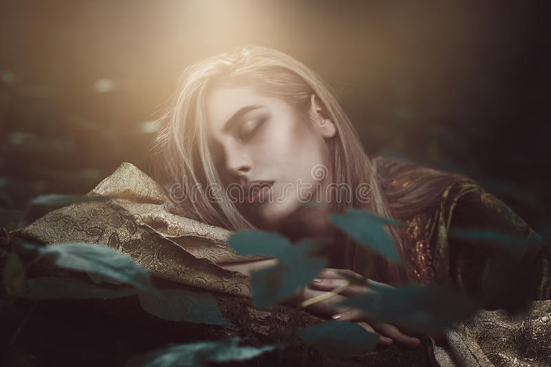 Ethereal beautiful woman. Fantasy and esoteric stock photos