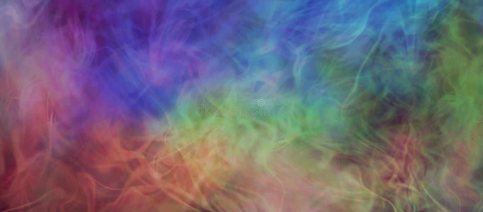 Ethereal Gaseous multi-coloured background banner royalty free illustration
