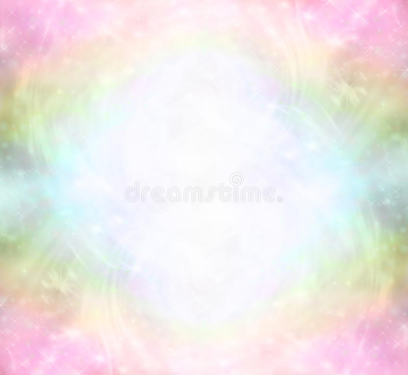 Ethereal Rainbow Healing Light Energy Field. Ethereal Rainbow colored background with sparkles and swirls depicting a Healing Light Energy Field royalty free illustration