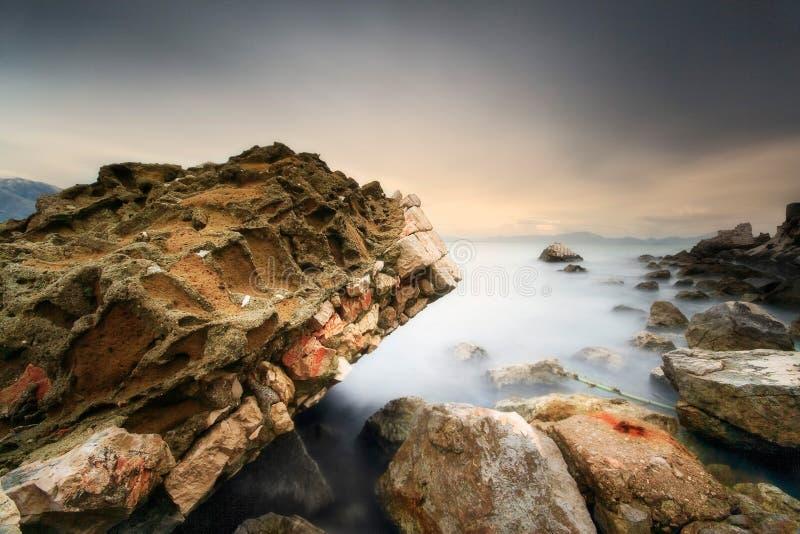 Download Ethereal Stillness stock photo. Image of ruin, mist, sunset - 7330806