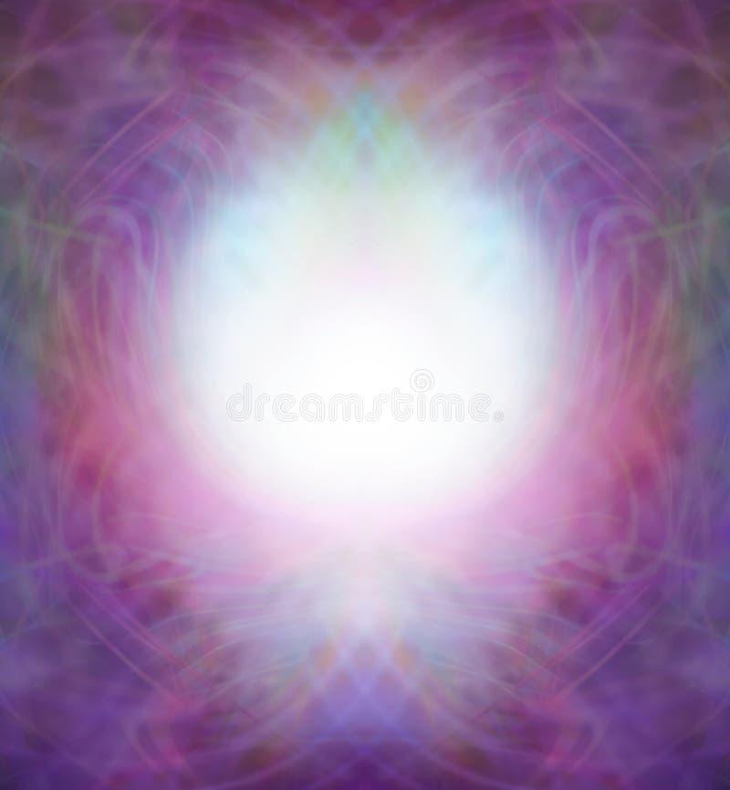 Ethereal Symmetrical Energy Field Border vector illustration