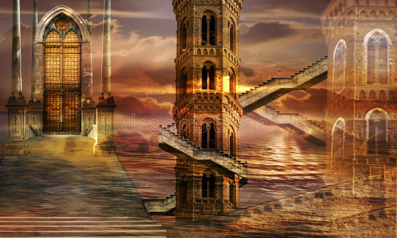 Ethereal Towers Royalty Free Stock Image