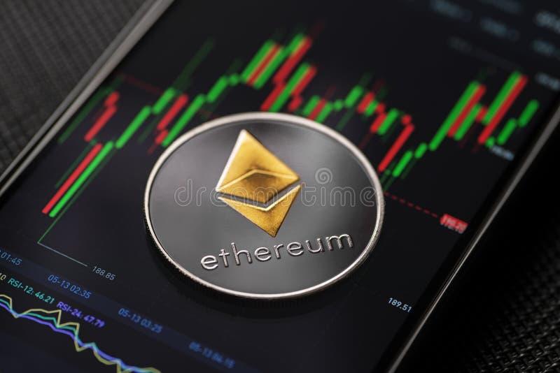 Ethereum密码货币 库存图片