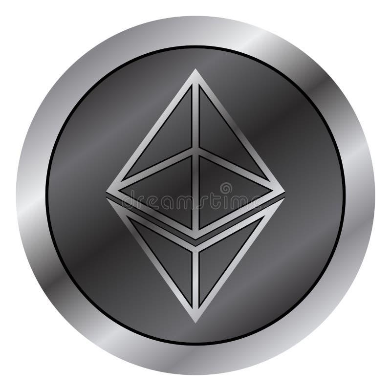 Ethereum真正金钱货币 Cryptocurrency 向量例证