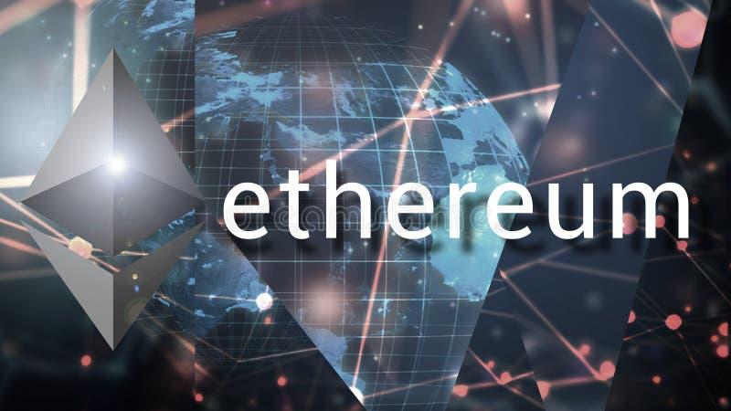 Ethereum隐藏货币,分散的blockchain技术 免版税库存图片