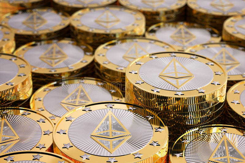 Ethereum - εικονικά χρήματα στοκ φωτογραφία
