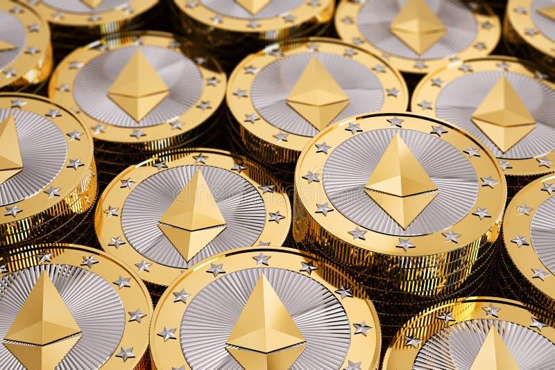 Ethereum - εικονικά χρήματα στοκ φωτογραφίες