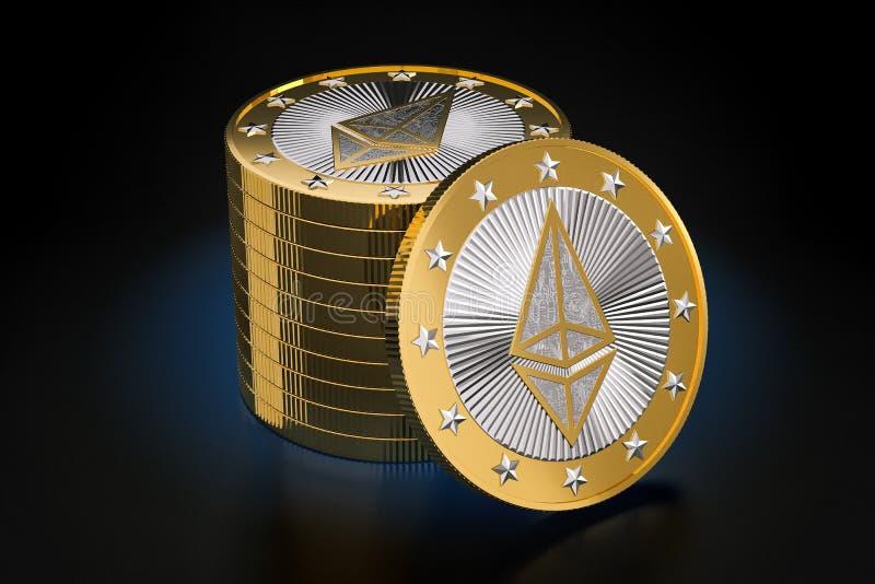 Ethereum - argent virtuel images stock