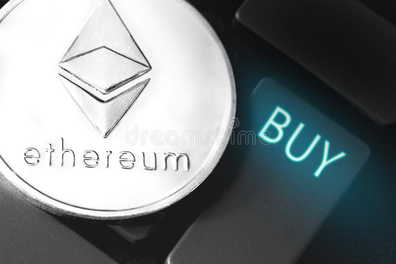 Ethereum coin royalty free illustration