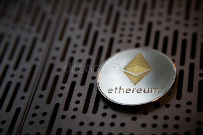 Ethereum coin crypto currency money stock photo