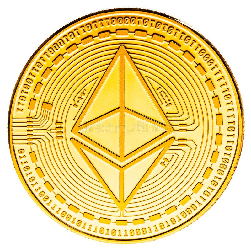 Ethereum coin isolated royalty free stock image