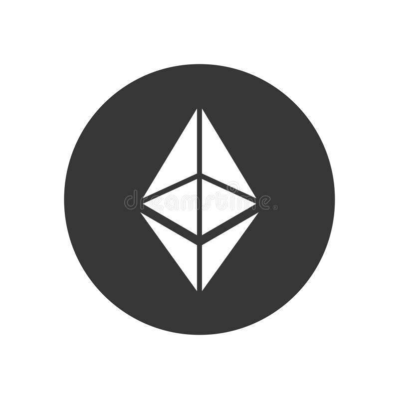 Ethereum Coin Sign. Crypto Currency Icon. Vector stock illustration