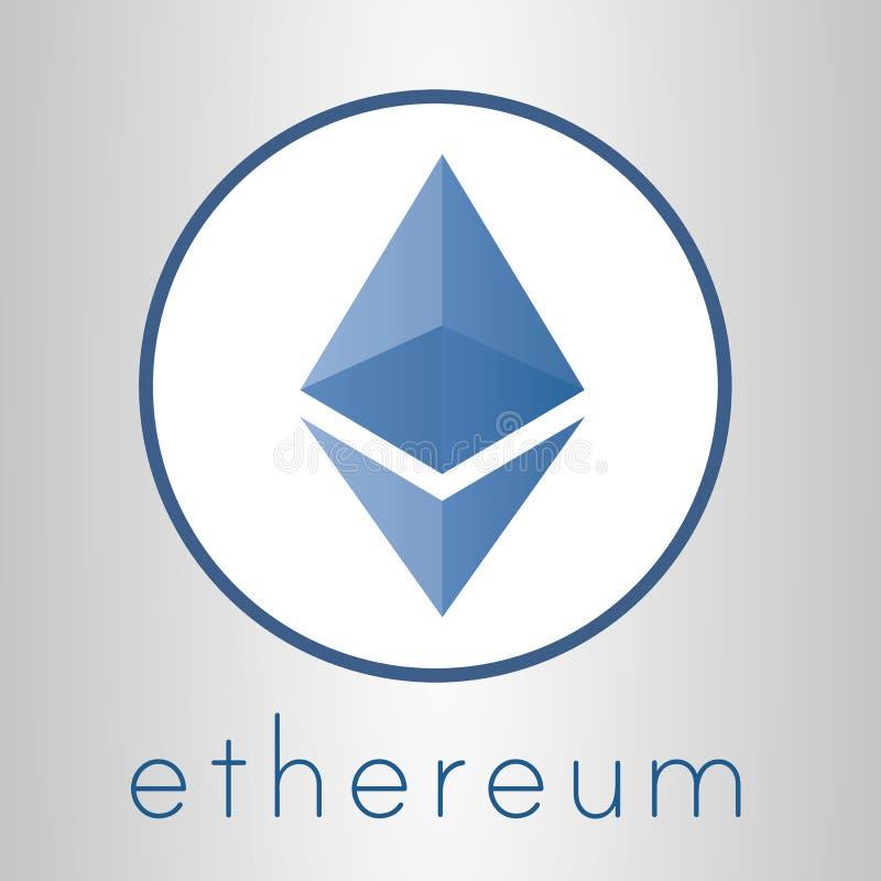 Ethereum-cripto Währungslogo lizenzfreie abbildung