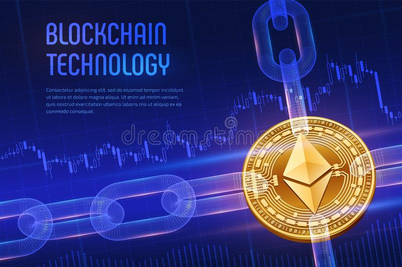 Ethereum  Crypto Currency  Block Chain  3D Isometric