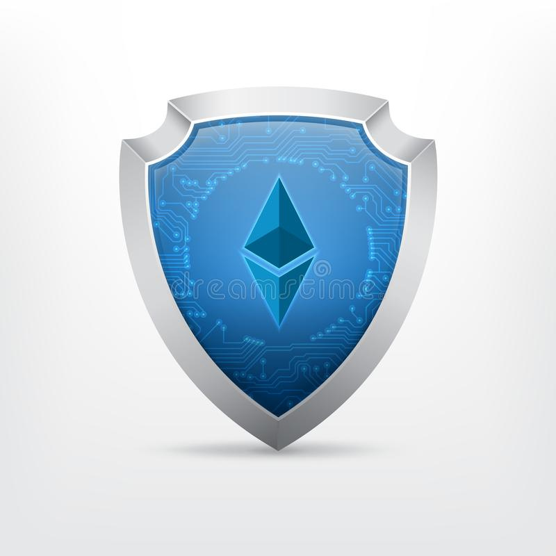 Ethereum crypto currency sign vector illustration