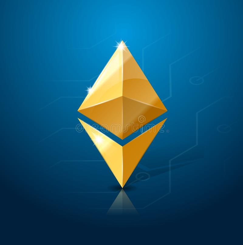 Ethereum cryptocurrency logo. System of electronic or digital money. vector illustration