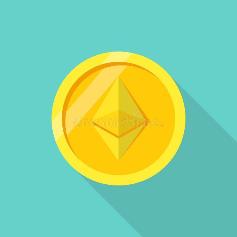 Ethereum de la moneda Moneda Crypto stock de ilustración