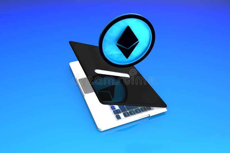 Ethereum, Digitale Slimme Contractenbesparingen stock illustratie