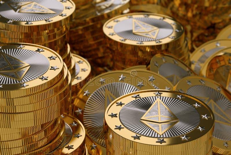 Ethereum - dinheiro virtual imagens de stock royalty free