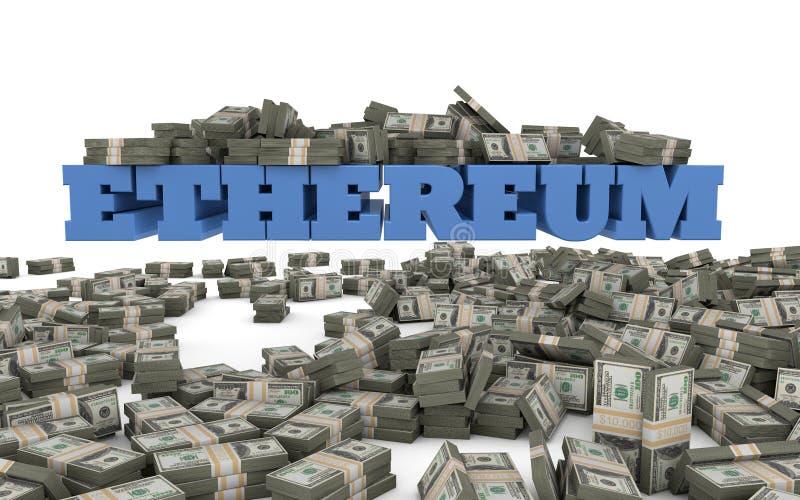 Ethereum investering och spekulation vektor illustrationer