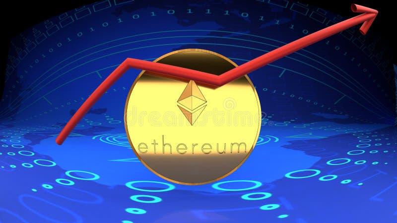 Ethereum-Münze, on-line-Geld, digitales Bargeld, eine andere Cybermünze vektor abbildung
