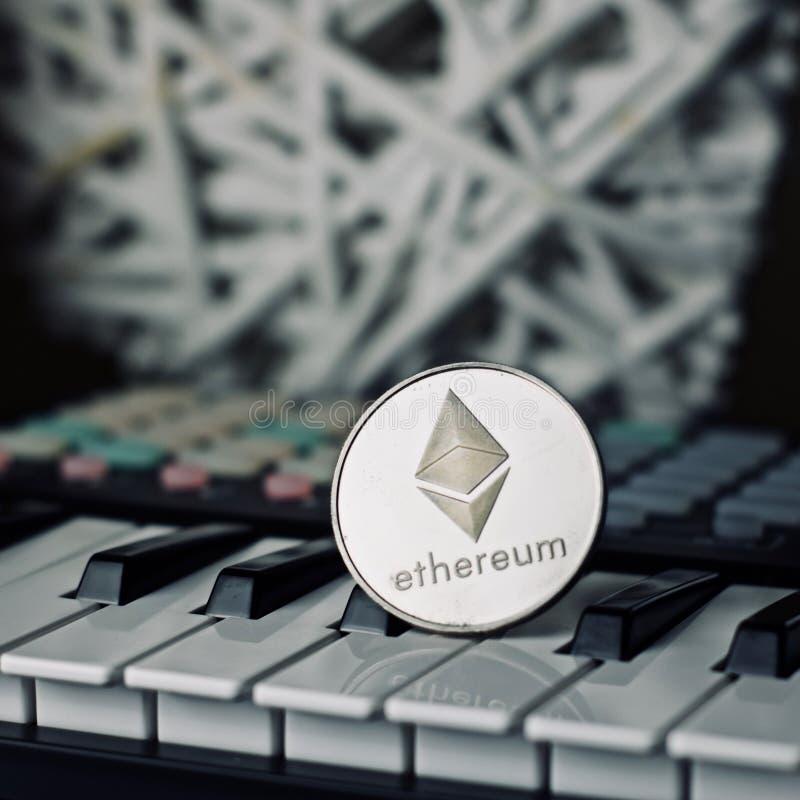 Ethereum muzyki moneta fotografia stock