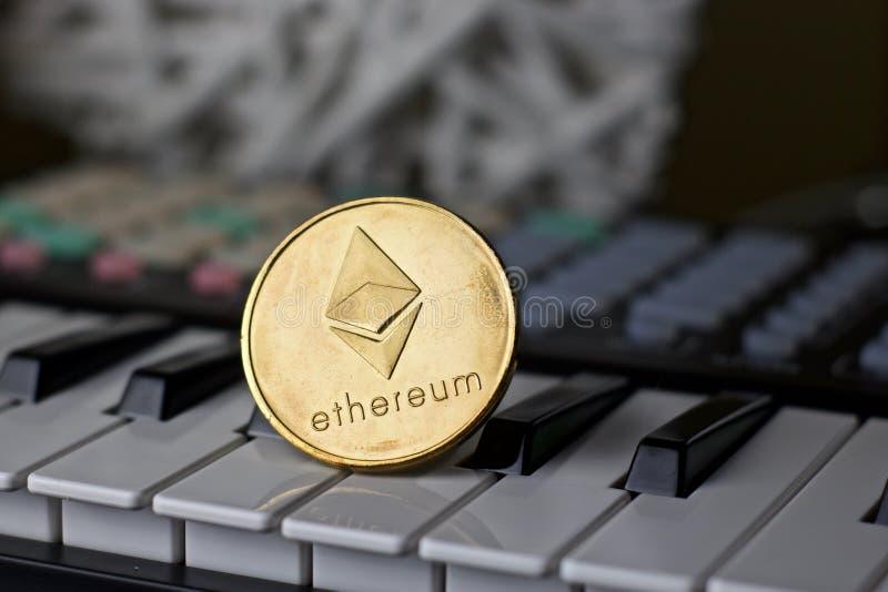 Ethereum muzyki moneta obrazy stock