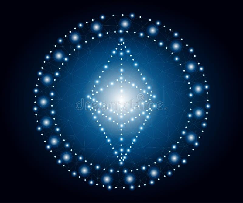 Ethereum, polígono, estrellas azules 2 libre illustration