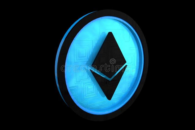 Ethereum, Slimme Contracten Logo Concept royalty-vrije illustratie